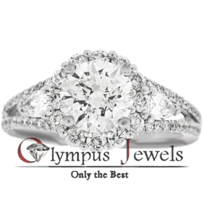 2.60CT G-I3 CERTIFIED DIAMOND ENGAGEMENT RING 18KW